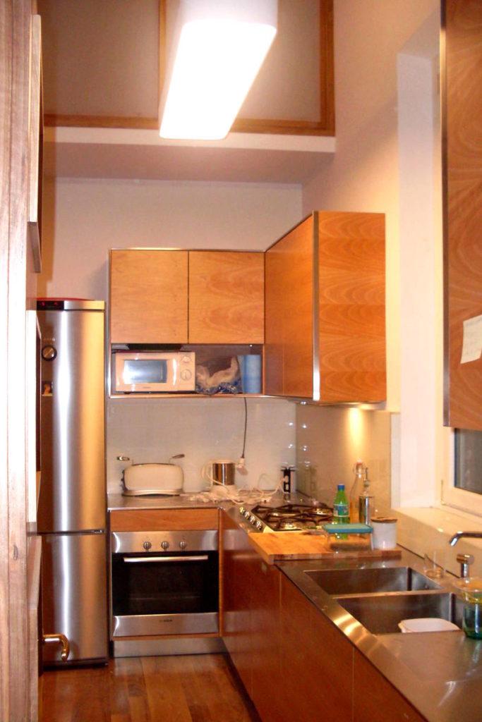 Cucina finiture in metallo mobili artigianali Gamma Arredamenti Snc Macerata