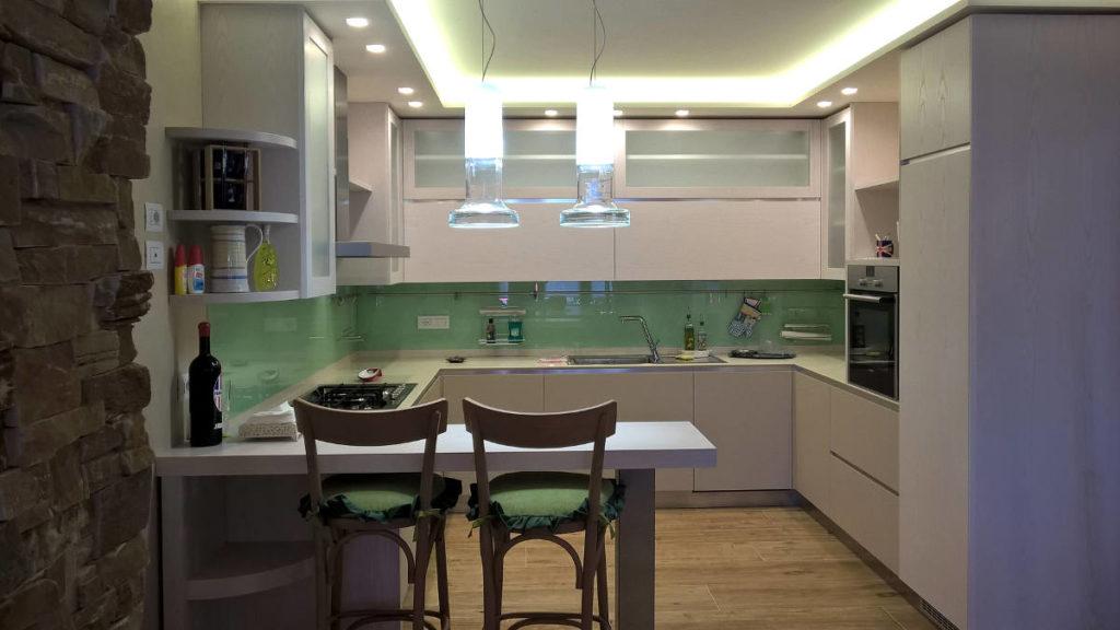 Cucina verde mobili artigianali Gamma Arredamenti Snc Macerata